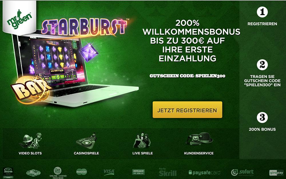 Green Gaming für Österreich - Nur bei Mr Green